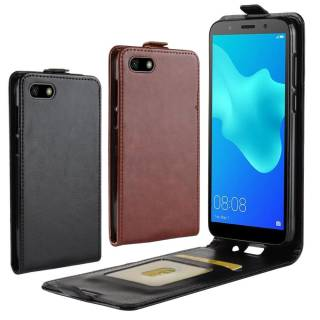 Huawei Y5 (2018) Flip Case Crazy Horse Card Slot