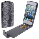 Apple iPhone SE 5 5S Flip Case Snake Skin Schlangenmuster