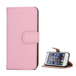Apple iPhone SE 5 5S Wallet Case Genuine Split Echt Leder